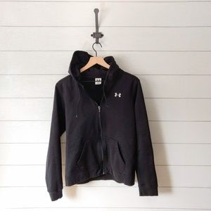 Under Armour Black Full Zip Hoodie Sweatshirt LG